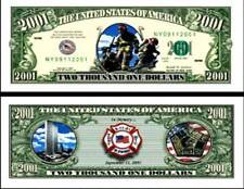 OUR FIREFIGHTER COLOR DOLLAR BILL (2 Bills)