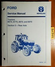 Ford New Holland 8670 8770 8870 8970 Tractor Rear Axle Sec 5 Service Manual '94