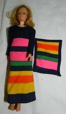 Vintage 1973 Kenner Jenny Jones Doll with dress + rug