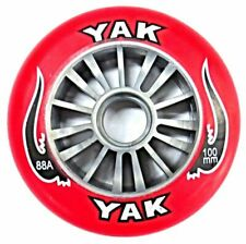 Razor Style YAK Scooter Wheel Silver Plastic Core 100mm RED