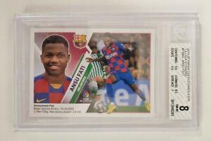 2019-20 Panini Colecciones Este La Liga Stickers Soccer Ansu Fati BGS 8 w/ 9.5s