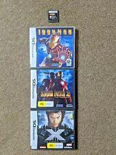 Nintendo DS Hero Game Bundle - Ironman, X-men, Star Wars (tested, working)