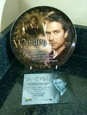 More details for buffy the vampire slayer angel series 1 wesley 8 inch collectors plate boxed
