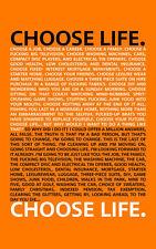 Encadrée Imprimer-Trainspotting Choisir la vie (film affiche Trainspotting 2)