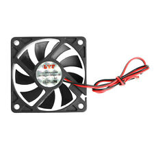 DC 12V 2-Pin 60x60x10mm PC Computer CPU System Sleeve-Bearing Cooling Fan 6010