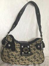 GUESS  Faux Leather/Fabric Hobo/Shoulder Bag J/ Handbag