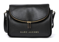 Marc Jacobs The Groove Leather Messenger Crossbody Bag [Black] Large NWT $375