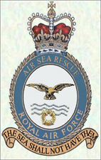 RAF Royal Air Force ASR Air Sea Rescue crested Fridge Magnet