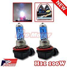 2PCS H11 5000K Gas Xenon Driving Fog Lamp Headlight Bulbs Power Halogen 12V 100W