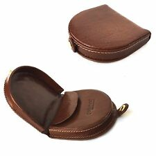 GOLUNSKI Mens New Tan Leather Purse Horseshoe Press stud Closure Coin Tray.