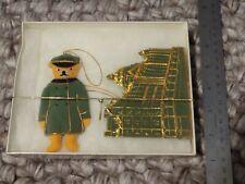 Vintage Harrods Bear And Department Store Felt Christmas Ornament