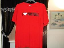 VINTAGE I LOVE PAINTBALL  T-SHIRT VERY RARE SIZE XL I DAY SHIPPING SIZE LARGE
