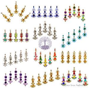 1 pack of MULTI COLOUR Indian DIAMANTE Bridal FESTIVAL Crystal TIKKA Jewel Bindi