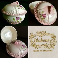 Rare Collector's Vintage Blakeney Pottery English Bone China Trinket Box