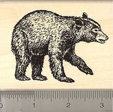 Black Bear Rubber Stamp NEW Wood Mounted K6910