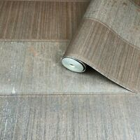 Wallpaper Copper Bronze Metallic Textured Striped Modern stripes Wallcoverings