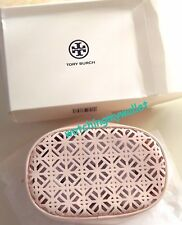 Tory Burch Patent Light Pink Lace Makeup Cosmetic Case Beauty Pouch Toiletry Bag