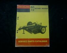 New Holland Model 60 & 72 Hay Mower slasher spare parts book manual catalogue