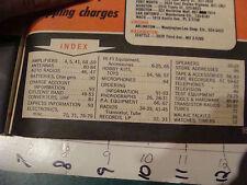 vintage Catalog: RADIO SHACK 96 pages of bargains; 1964