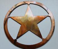 "Texas Star Metal 5"" Wall Art Decor"