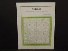 Iowa Sac County Map Wheeler Township  c.1920  W8#59