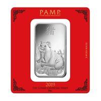 Silberbarren 100g Pamp Suisse Schwein silver bar Pig 100 g 999 Silber Lunar
