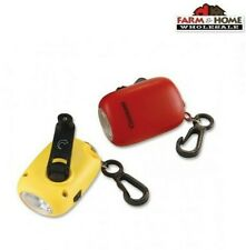 (2) Portable Mini Flashlight Keychain Hand Crank Rechargeable ~ New