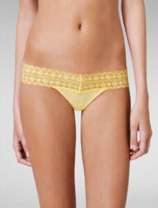 A509T Calvin Klein NEW D3172 Women's Luxury Lace Waist Mesh Modern Thong Panty