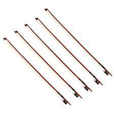 5 Set Violin Bow 4/4 Size Brazilwood Octagonal Stick Ebony Frog Horse Hair