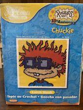 "New listing Rugrats Latch Hook Kit Chuckie J&P Coats 24"" x 24"" 2001"
