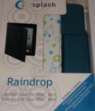 Splash Raindrop Leather Case for iPad Mini with Stylus - Blue Bubble