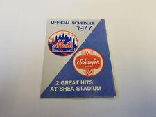 New York Mets 1977 MLB Baseball Pocket Schedule - Schaefer Beer