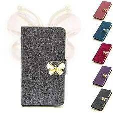 Butterfly Rhinestone Mobile Phone Case Protective Case Flip Cover Style Case Pouch m212