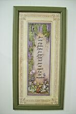 """Home Interiors~Homco~Picture """"The Garden Prayer""""~Wood Frame~Signed~Gail Brown"""