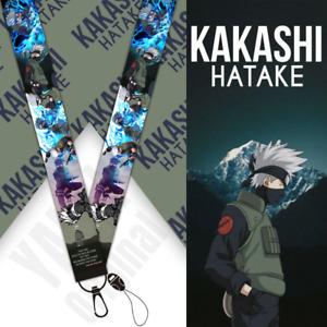 Naruto Kakashi Lanyard Keychain Badge Anime Neck Straps