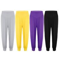 Women's High Waist Wide Legs Casual Loose Yoga Sports Dance Harem Pants Trousers