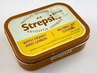 Vintage Medicine Tin Strepsils Antiseptic Lozenges Empty Warner Chilcott U948