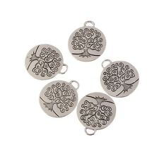5 Tree of Life Charms tibetan silver Pendants for Jewelry Making Craft Handmade