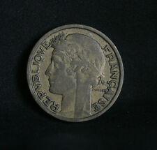 1932 France 2 Francs World Coin KM886 Laureate head French cornucopias