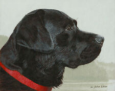 John Weiss THE FOGS RISIN' open edition giclee canvas BLACK LAB, Dogs
