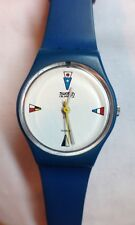 VINTAGE Ladies SWATCH WATCH 1984 - 4 FLAGS Super RARE Discontinued