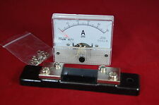 1PC DC 50A Analog Ammeter Panel Current Meter 85C1 0-50A DC WITH Shunt