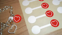 Jewellery Red Heart Price Stickers Labels Tags Dumbells - Jewelry - Rings etc.