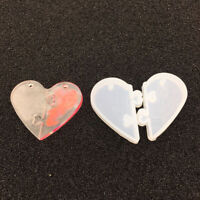 Herz Form Anhänger Silikonform Schmuckgießform DIY Harz dekorative Handwerk