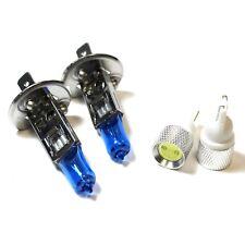 Daewoo Leganza 55w Super White Xenon HID Low Dip/Slux LED Side Light Bulbs Set