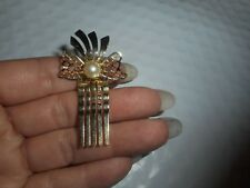 Vintage Hair Comb/Clip Bow With Pearl