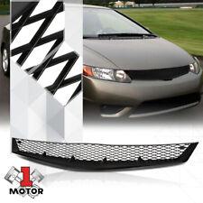 For 2006-2008 Honda Civic {X-MESH} Matte Black Plastic Bumper Grille Vent Grill