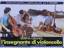 L'INSEGNANTE DI VIOLONCELLO commedia di Webber con Serena Grandi fotobusta 1989