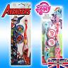 Kids Toothbrush Soft 2 Pack & Cap My Little Pony Avengers Travel set teeth BRUSH