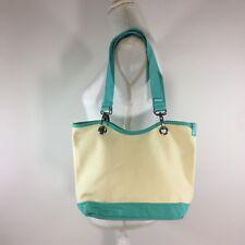 Thirty One Womens Handbag Canvas Crew Mini Natural Turquoise